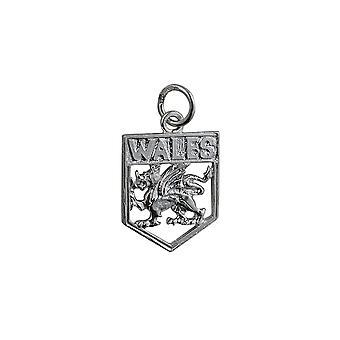 Серебряный 18x15mm Уэльс Badge кулон или очарование