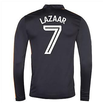 2016-17 Newcastle Away Long Sleeve Shirt (Lazaar 7)