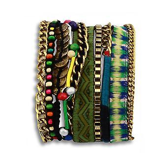 Tree hugger chick layered bracelet