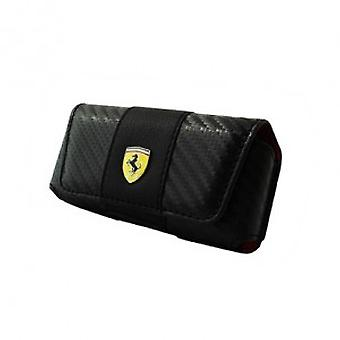Ferrari horizontal belt pouch in black with Ferrari Logo iPhone 4 / 4S