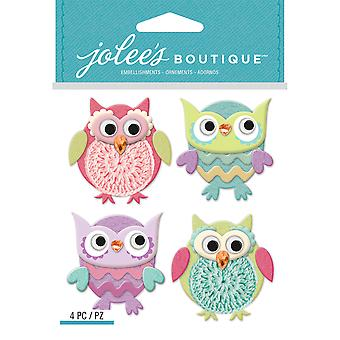 Jolee's Boutique Dimensional Stickers-Cutesy Owls E5021939