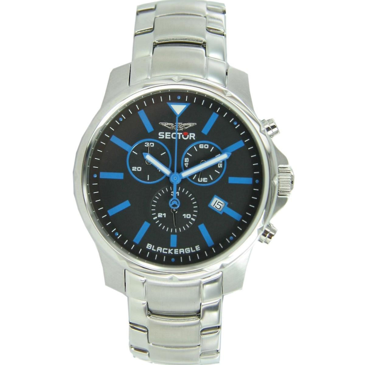 Sector men's watch wrist watch no limits - Black Eagle stainless steel R3273689002