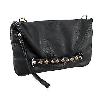 Pyramid Studded Wristlet Evening Bag