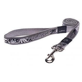 Rogz bewaffnete Antwort Nylon führen Silber Gecko 25mm X1.2m