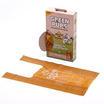Tasker på bestyrelsen grønne Pups håndtag slips afhente poser 100 poser