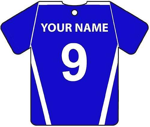 Personalised Montrose Football Shirt Car Air Freshener