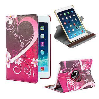 360 grados de diseño de libro de caja para Apple iPad Mini 4ta Gen - corazón de amor