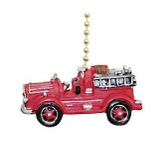 Vintage Fire Truck brandweerman Ladder brandweerman Fan Pull