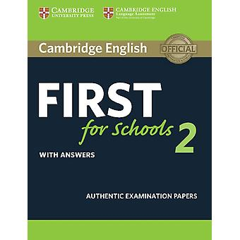 Cambridge English First For Schools 2 St