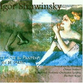 I. Stravinsky - importación de los E.e.u.u. de la Sacre Du Printemps/Jeu De Cartes [CD]