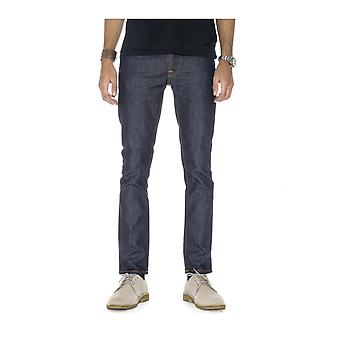 Nudie Jeans Co Grim Tim Straight & Slim Fit Jeans (droge Open Navy)