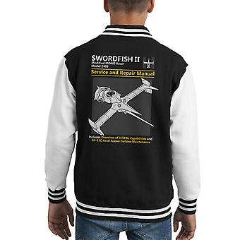 Cowboy Bebop Swordfish Service And Repair Manual Kid's Varsity Jacket