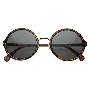 Vintage Inspired Classic Round Circle Sunglasses w/ Metal Bridge