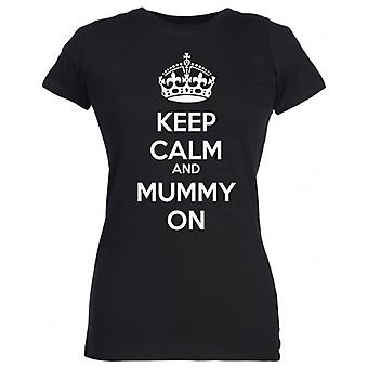 Spoilt Rotten Keep Calm And Mummy On Women's T-Shirt Purple (12-14)