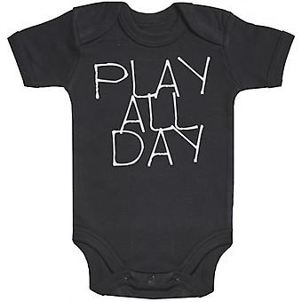 Spoilt Rotten Play All Day Short Sleeve Baby Bodysuit