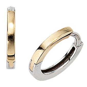 Hoops around 333 gold yellow gold bicolor white gold earrings Goldcreolen