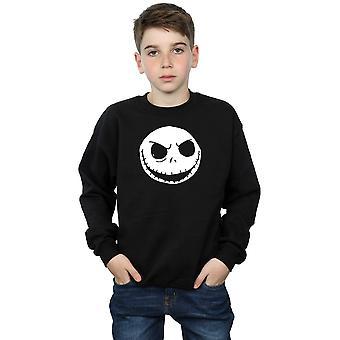 Disney Boys Nightmare Before Christmas Jack Skellington Face Sweatshirt
