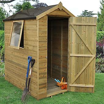 Forest Garden 4 x 6 Pressure Treated Tongue & Groove Garden Shed