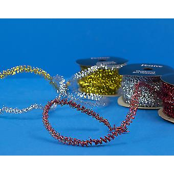 5m Mini Tinsel Garland for Christmas Decoration - Choice of Colour
