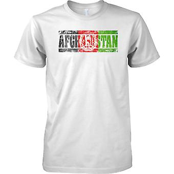 Afghanistan Grunge Country Name Flag Effect - Kids T Shirt