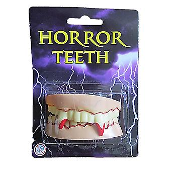 Adults Horror Bloody Vampire Dracula Teeth Fangs Halloween Fancy Dress Accessory