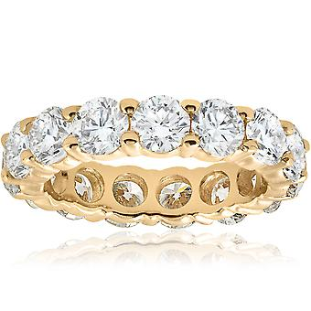 5ct Prong Diamond Eternity Ring 14K Yellow Gold