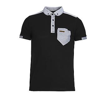 VOI JEANS Fulton Button Down Polo Shirt | Navy