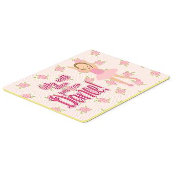 Carolines Treasures  BB5385CMT Ballet Brown Short Hair Kitchen or Bath Mat 20x30
