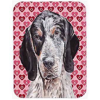 Blue Tick Coonhound Hearts and Love Mouse Pad, Hot Pad or Trivet