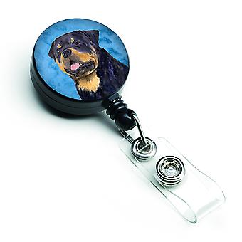 Rottweiler  Retractable Badge Reel or ID Holder with Clip SS4800