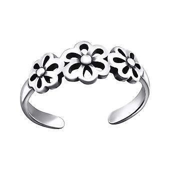Flowers - 925 Sterling Silver Toe Rings - W27624x