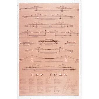 East River Bridges Ny Poster Print by Jim Holmes (26 x 40)