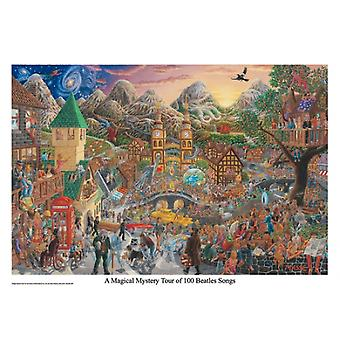Eine Magical Mystery Tour von 100 Beatles Songs Poster Print von Tom Masse (32 x 22)