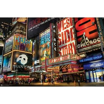 NEW YORK CITY Time Square Theater Gegend Plakat Poster drucken
