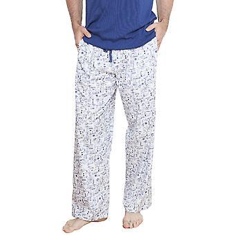 Cyberjammies 6207 мужчин Бен Уайт мотив Pajama брюки