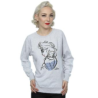 Disney Women's Frozen Elsa Sketch Mono Sweatshirt