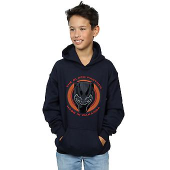 Marvel Boys Black Panther Made in Wakanda Red Hoodie