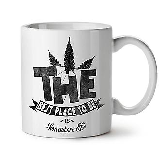 Best Place Weed Pot NEW White Tea Coffee Ceramic Mug 11 oz | Wellcoda