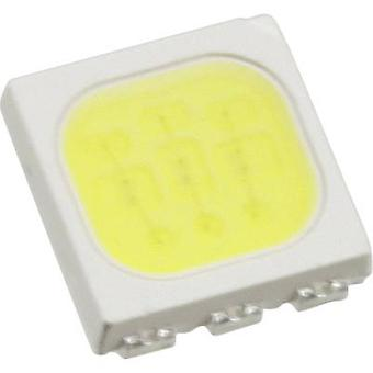 SMD LED PLCC6 Cold white 6100 mcd 120 ° 20 mA