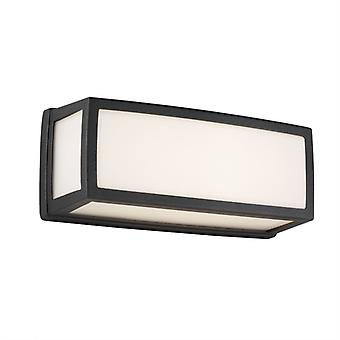 Washington Small Dark Grey Outdoor LED Wall Light With White Diffusers - Searchlight 6397GY