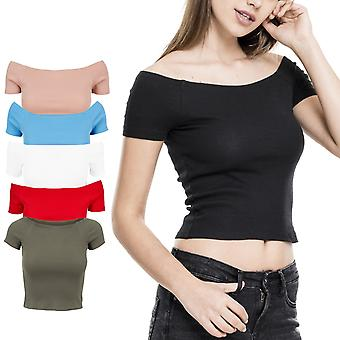 Urban classics ladies - off shoulder rib top strapless