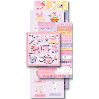 Spiegelen Pack Sticker Embellishments Baby Girl K921573