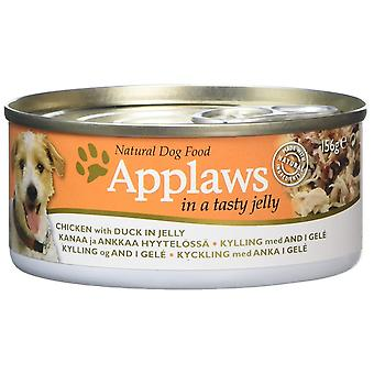 Applaws Natural Complete  Dog Food Jelly Tin Chicken with Duck, 156g, Pack of 16