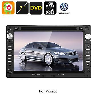 2 DIN Car DVD Player - For Volkswagen Passat (B5), Android 8.0, Octa-Core CPU, 7 Inch HD Display, GPS, WiFi, 3G, CAN BUS