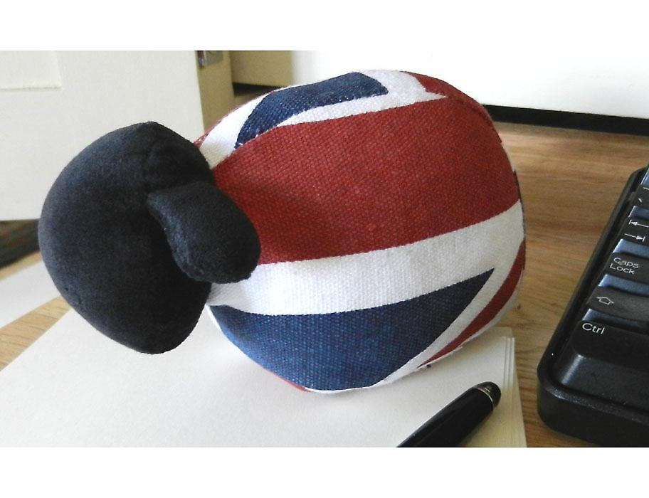 Union Jack Sheep Paperweight by Monica Richards