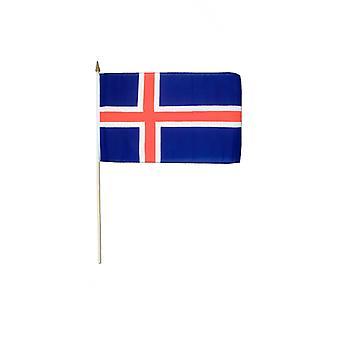 Island Hand winkend Flagge