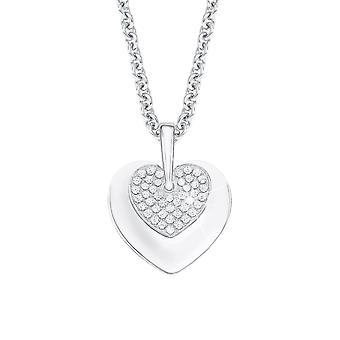 s.Oliver jewel ladies chain necklace silver Zyrkonia heart 2012646