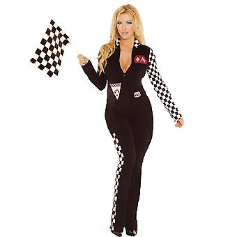Elegant Moments Plus Size Race Car Driver Nascar Halloween Roleplay Costume