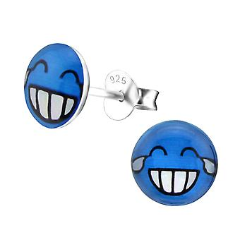 Laugh - 925 Sterling Silver Colourful Ear Studs