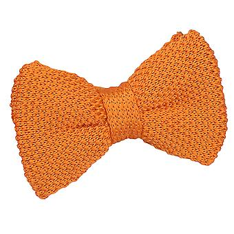 Tangerine Knitted Pre-Tied Bow Tie for Boys
